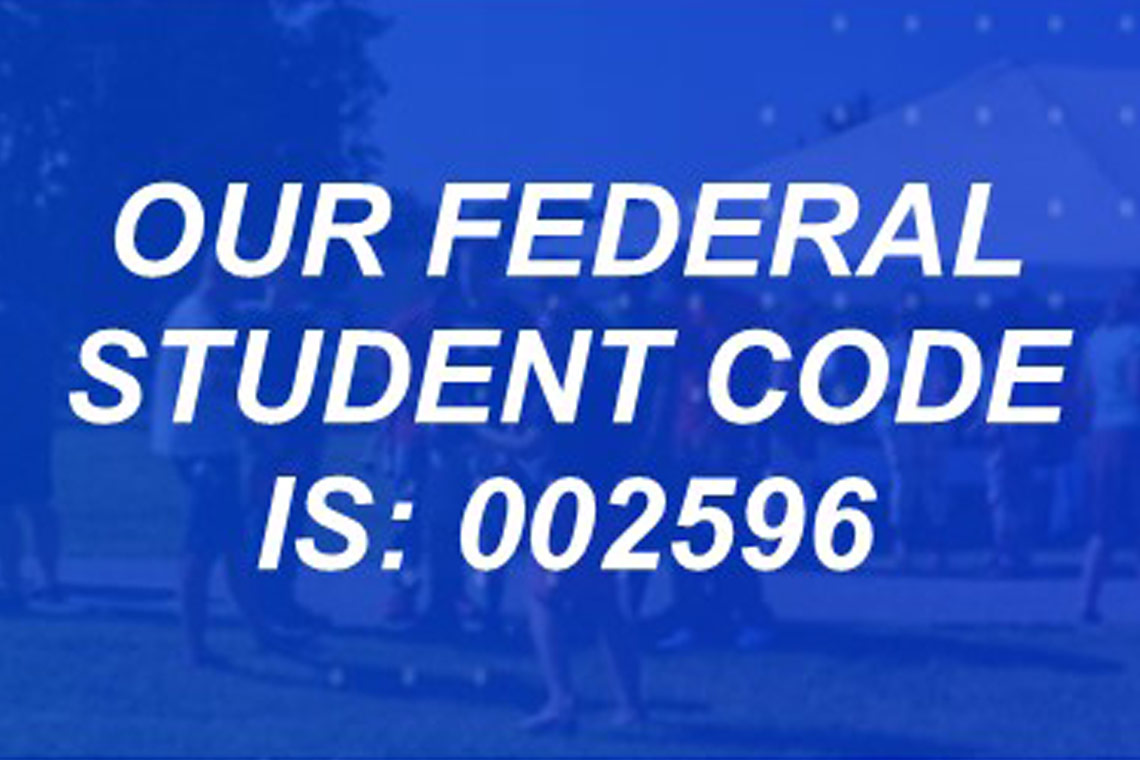 our federal student code is: 002596