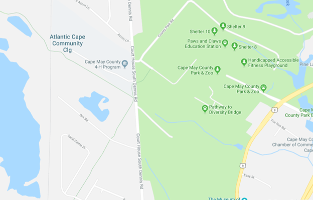 ACCC Campus map in Cape May