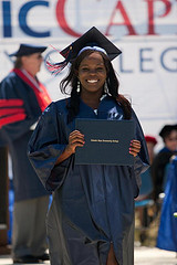 graduate standing with diploma