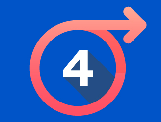 the number 6 in a circle with an arrow