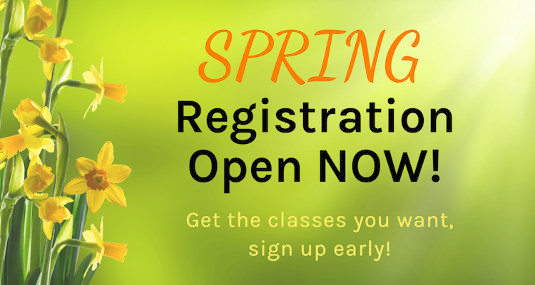 Spring Registration is now Open