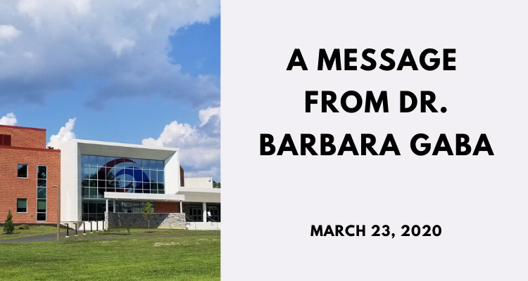 A message from Dr. Gaba - March 16