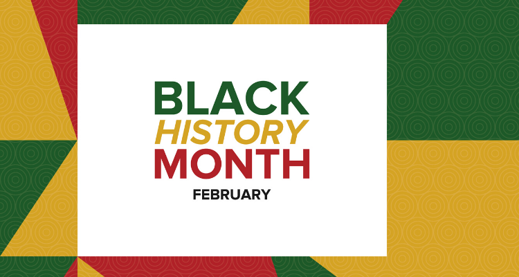 news story headline image that says Black History Month February
