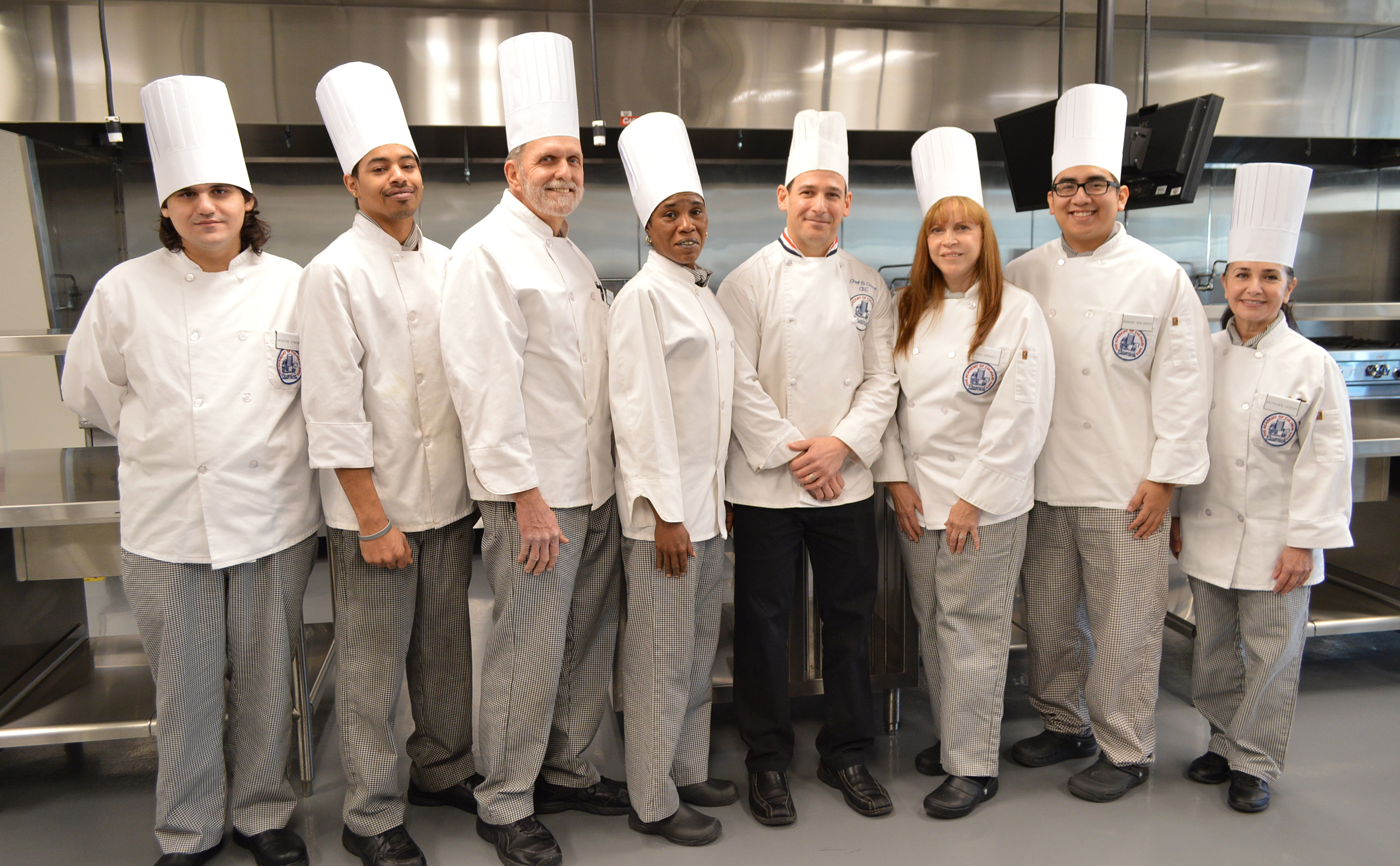group of culinary students and instructor